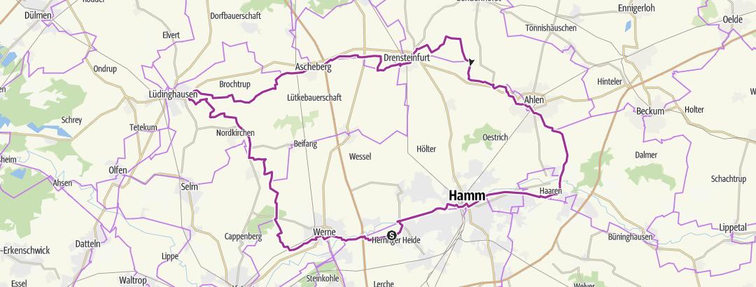 Mapa / House-Lap II ( Werne- Lüdinghausen-Ascheberg-Drensteinfurt-Ahlen 101km)