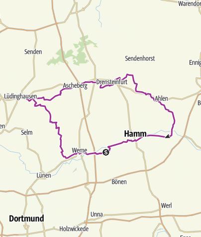 Térkép / House-Lap II ( Werne- Lüdinghausen-Ascheberg-Drensteinfurt-Ahlen 101km)