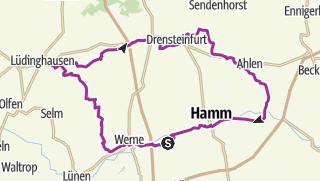 מפה / House-Lap II ( Werne- Lüdinghausen-Ascheberg-Drensteinfurt-Ahlen 101km)