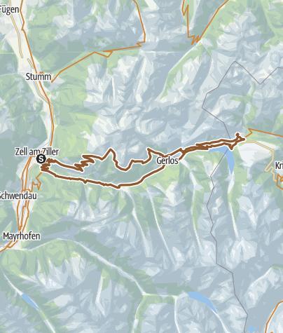 Karte / Zell-am-Ziller_Gerlospass