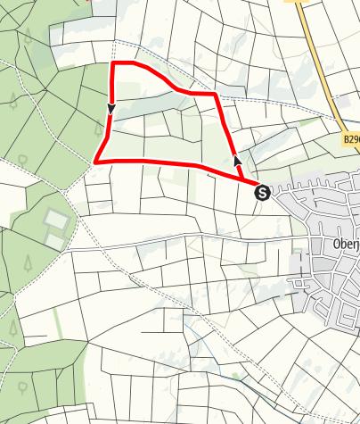 Karte / Streuobst-Erlebnisweg Oberjesingen - Fleißige Bienen in der Streuobstwiese