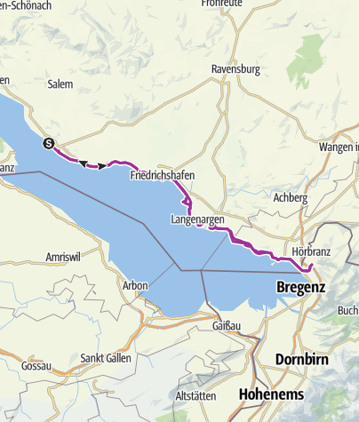 Map / Meersburg nach Hörbranz