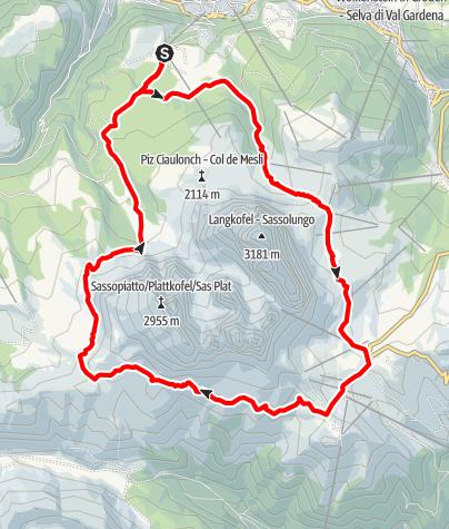 Map / saslong half marathon strenc