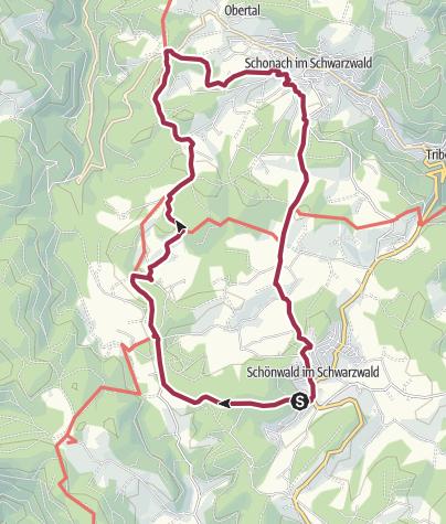 Karte / Schönwald - Über den Blindensee zur Wilhelmshöhe