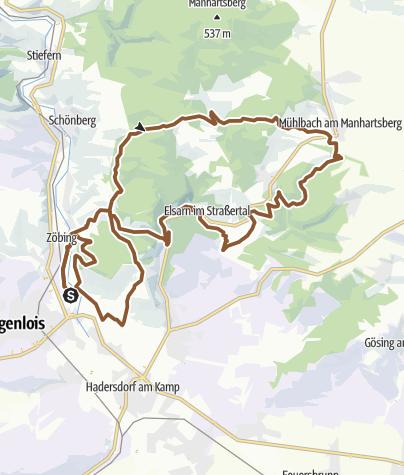 Karte / Heiligenstein - Manhartsberg