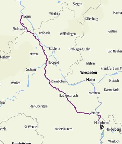 Karte / Mannheim - Widdig
