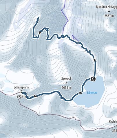 Karte / Schesaplana
