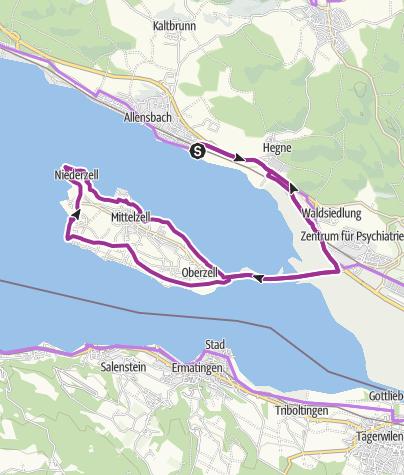 Insel Reichenau Karte.Allensbach Zur Insel Reichenau Radtour Outdooractive Com