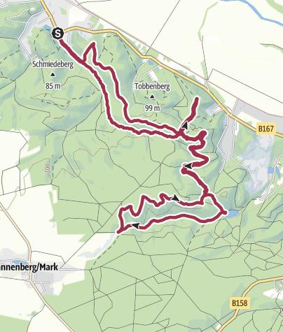 Karte / Fontaneweg Bismarckturm-Watzmann-Teufelssee-Arendskehle-Falkennerg