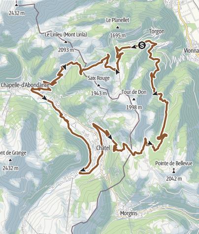 Map / « Espace Liberté » par Morgins – Châtel – La Chapelle