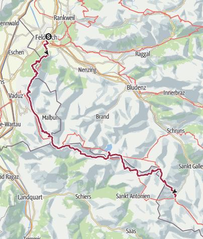Map / GOA AT: Austria-Liechtenstein-Switzerland Alpine Hike