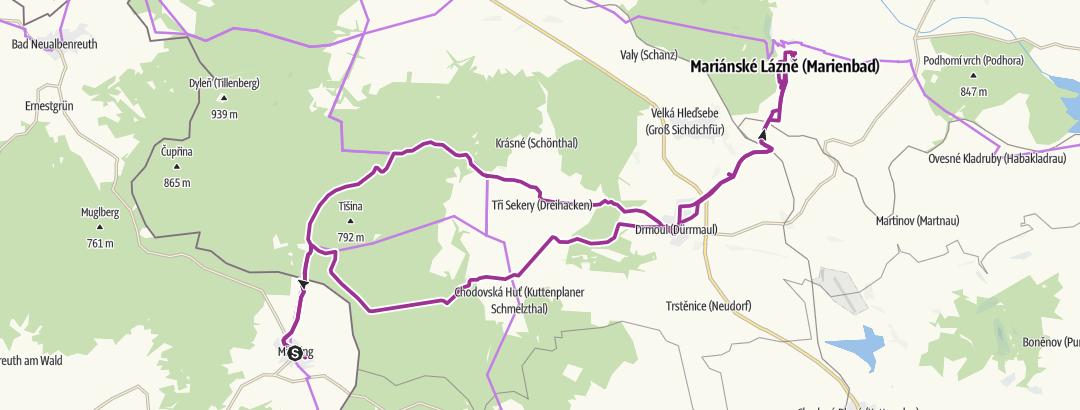 Mapa / Mähring-Bad Marienbad