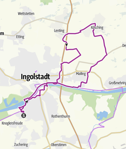 Karte / 29. Mai 2018 Ingoradler Tour zum Eisessen nach Kösching