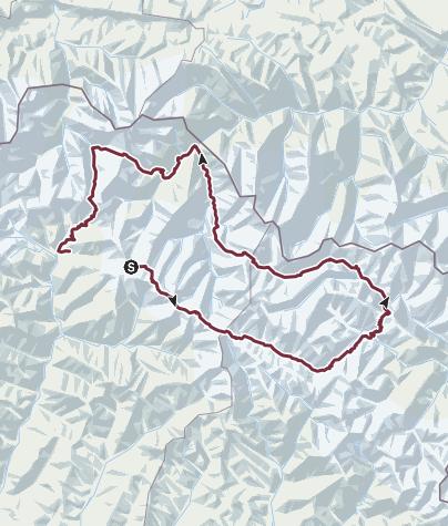 Map / Tusheti trekking 2018