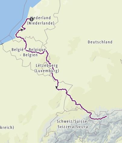 Karte / Von Amsterdam nach Innsbruck