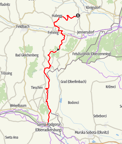Karte / Etappe 07 Weinland Steiermark Radtour Loipersdorf - Bad Radkersburg