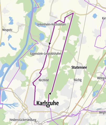 Karte / Entlang der Hardtbahn