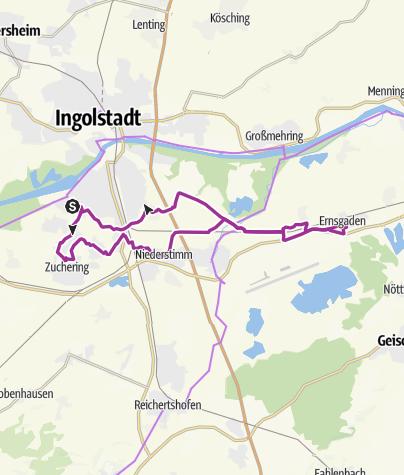 Karte / 5. Juni 2018  Ingoradler Dienstagstour zum Eisessen nach Ernsgaden
