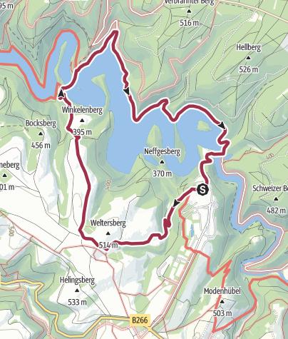 Map / Vogelsang - Urftalsperre - Vogelsang
