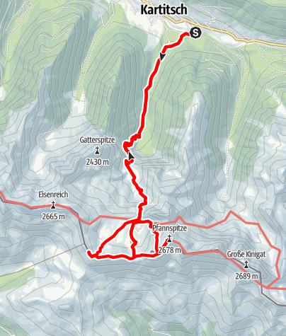 Karte / Pfannspitze - aussichtsreicher Gipfel am Karnischen Kamm