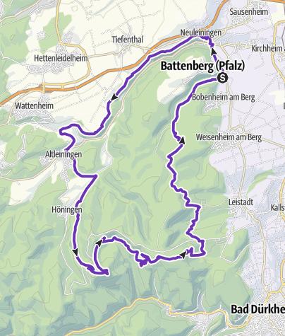 Karte / Große Leiningerland-Runde