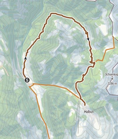Karte / Valorsch Tour