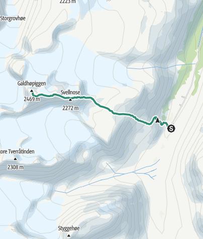 Map / Spiterstulen- Galdhøpiggen