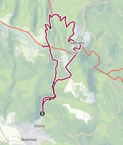 Cartina / Riesloch, Gr. Arber, kl. Arbersee, Kl. Arber und zurück