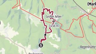 Karte / Riesloch, Gr. Arber, kl. Arbersee, Kl. Arber und zurück