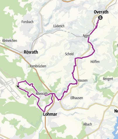 Map / Overath - Wahner Heide