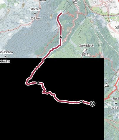 Map / Überschreitung des Chraienhöreli