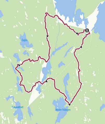 Karte / Kalleboda Tour in Glaskogen (2- bis 3-Tages-Wanderung)