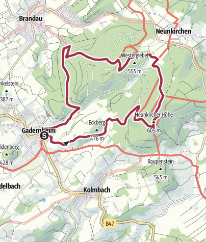 Karte / Neunkircher Höhe über den Kaiserturm
