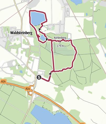 Map / Wanderung mit Hund ab Waldsteinberg