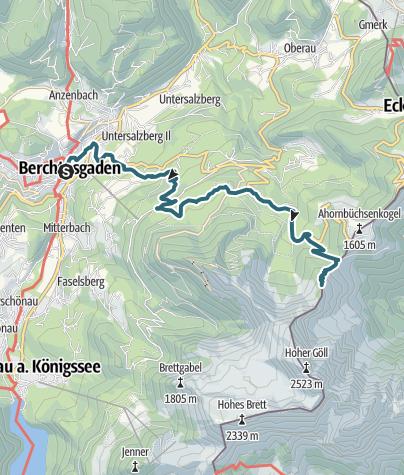 Map / Berchtesgaden tour day #1