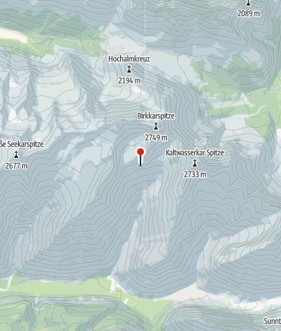 Map / Schlauchkarsattel/Birkarspitze