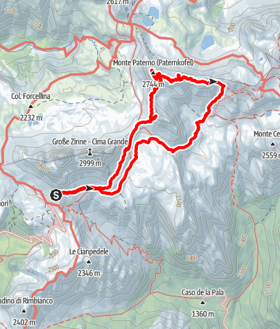 Map / Paternkofel 2744m