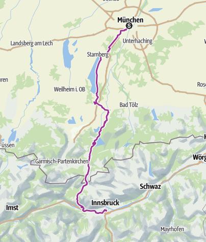 Map / Munich to Innsbruck