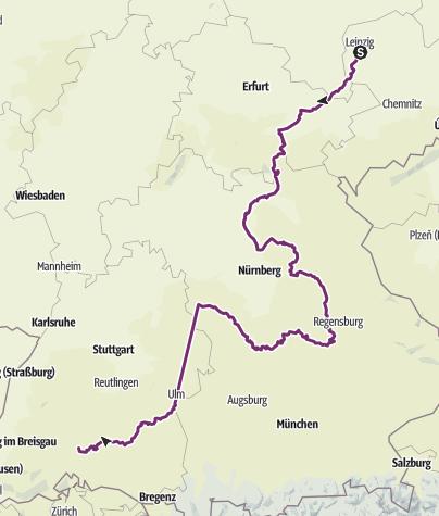 Map / Tour nach Süden final