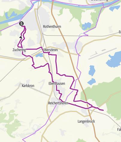 Karte /  19. Juni 2018 Ingoradler Dienstagstour nach Hög bei Reichertshofen