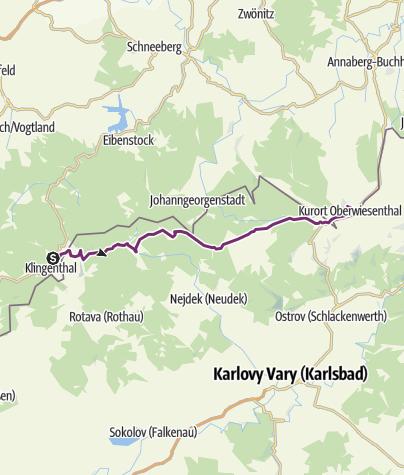 Karte / Klingenthal - Oberwiesenthal