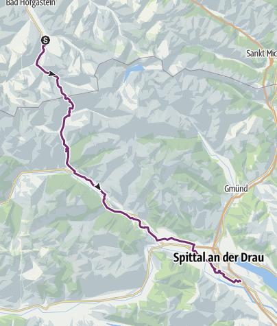 Cartina / 3 stage Bad Gastein- Spittal an der Drau