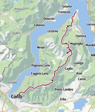 Karte / Brunate Bellagio 2 Tage
