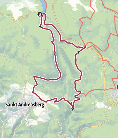 Karte / Rundweg Oderteich - Odertal - Königskrug  - Oderteich
