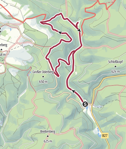 Karte / Rundwanderung Oderhaus-Mariechenweg-Rinderstall-Oderhaus