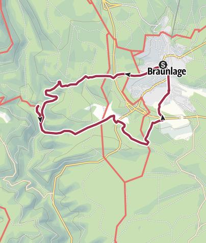 Karte / Rundweg Braunlage - Silberteich - Rinderstall - Ponyhof - Forellenteich