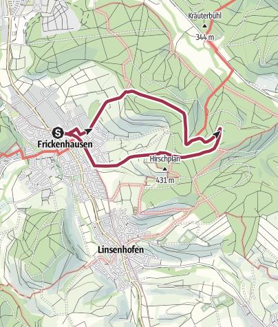 Karte / Frickenhäuser Erlebnisweg 7: Zum Jakobsbrunnen