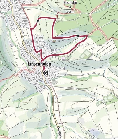 Karte / Frickenhäuser Erlebnisweg 8: Durch Weinberge und Streuobstwiesen