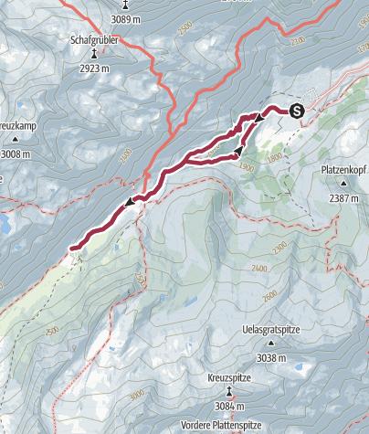 Karte / Familien Tour Franz-Senn-Hütte und Höllenrachen
