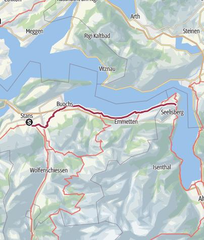 Carte / TransSwissTrail2, Etape19, Stans-Seelisberg